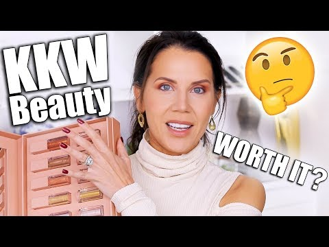 KKW BEAUTY ULTRALIGHT BEAM HIGHLIGHTERS & GLOSSES REVIEW | Worth it?