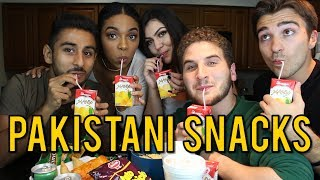 TRYING PAKISTANI SNACKS FOR THE FIRST TIME ft. REACT CAST