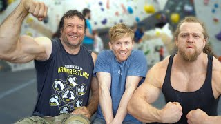 Worlds Strongest Arms VS Rock Climbing