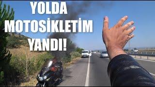 터키 도로에서 불붙은 바이크
