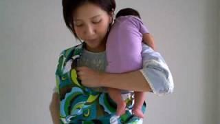 スリング(ポーチ型)の使い方 ~赤ちゃんをスリングに入れる~