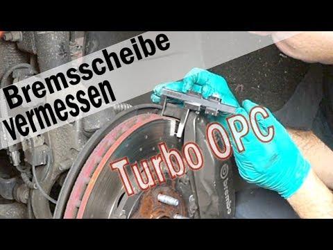 Bremsscheibendicke messen und feststellen ob diese neu muss am Opel Astra J 2,0 Turbo OPC