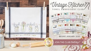Introducing Vintage Kitchen Towel Embroidery Club | A Shabby Fabrics Club