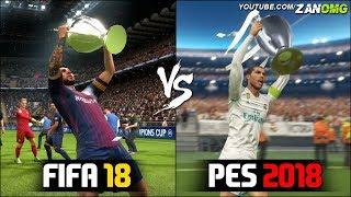 FIFA 18 vs PES 2018 | UEFA Champions League Final Comparison