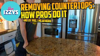 Removing Countertops Like a Pro (ONLY 1 INJURY!)