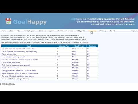 GoalHappy Goal Setting Tool With Emphasis On Easy Tracking