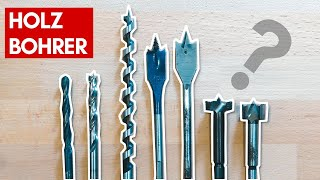 Die wichtigsten Holzbohrer in der Übersicht | Heimwerker Basics | Loch in Holz bohren