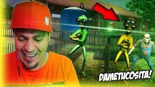 👽 SĄSIAD PORWAŁ BIEDNE UFOLUDKI   Scary Green Grandpa Alien #01
