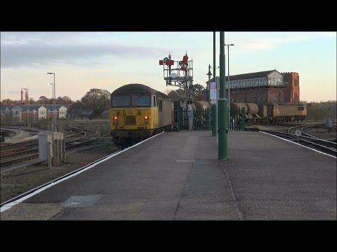 Colas Rail 56087 & 56078 pass Shrewsbury with RHTT 30th Nove…