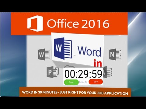 Word Tutorial: Learn Word in 30 Minutes – Just Right for your Job Application