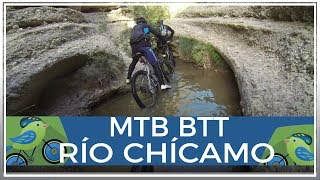 Subida Río Chícamo paso garganta Cajel MTB Bici montaña senderismo GoPro