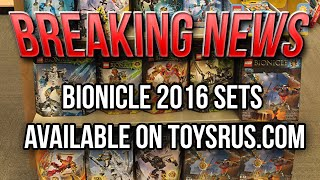 BREAKING NEWS: BIONICLE 2016 Sets Available at Toysrus.com!