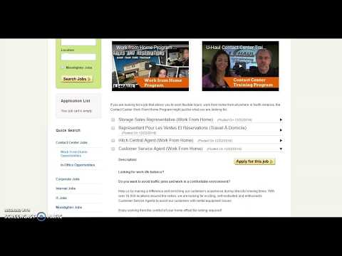Video U-haul Contact Center Work From Home Opportunities (Paid Training & Benefits)
