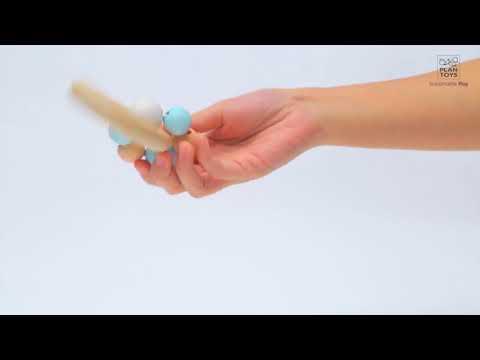 Plantoys - Sonajero de cuentas pastel, juguete de madera, en CuCuToys