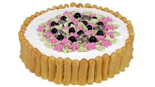 """Закусочный торт """"Дамские пальчики"""". Эффектное оформление для праздничного стола."""