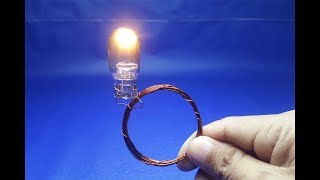wire copper with light bulbs 12 Free energy  generator || simple 2018
