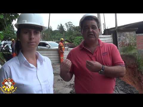 Azedou , Deslizamento na Obra da Rua Antonio Despézio vai aumentar o custo da obra e Agora quem vai pagar o Pato ?