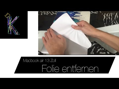 Macbook Air Folie entfernen