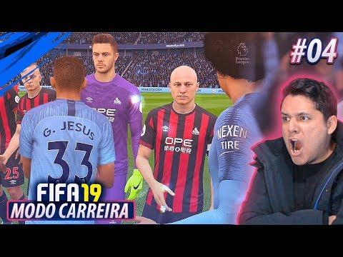 Nossa ESTREIA na PREMIER LEAGUE! Choque de REALIDADE?! FIFA 19 MODO CARREIRA #04