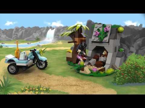 Vidéo LEGO Friends 41032 : La moto de secours de la jungle