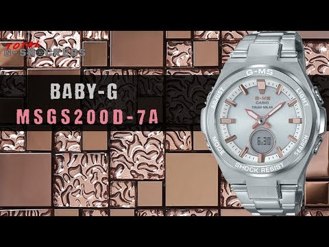 [NEW!] Ladies Casio BABY-G G-MS Stainless Silver & Pink Tone Watch | MSGS200D-7A Top 10 Review