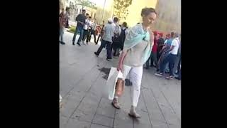 Драка нескольких десятков таксистов в центре Москвы