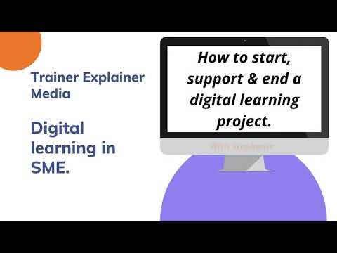 How to start, support and end a digital learning project?