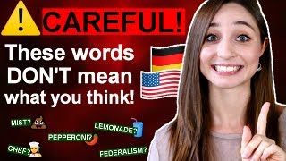 17 FALSE FRIEND WORDS in German and English   German Girl in America