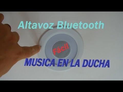 Lámpara LED de techo con Altavoz Bluetooth para baño