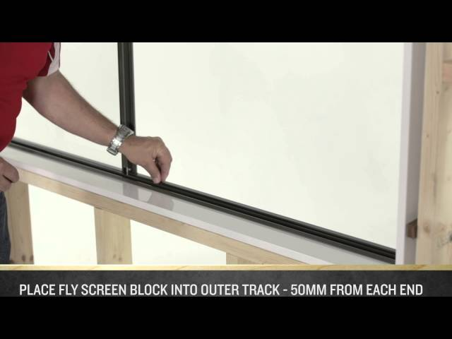 how to make fly screens for sliding windows