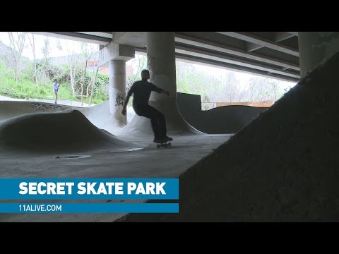 Secret skate park built under I-85, just yards from bridge collapse