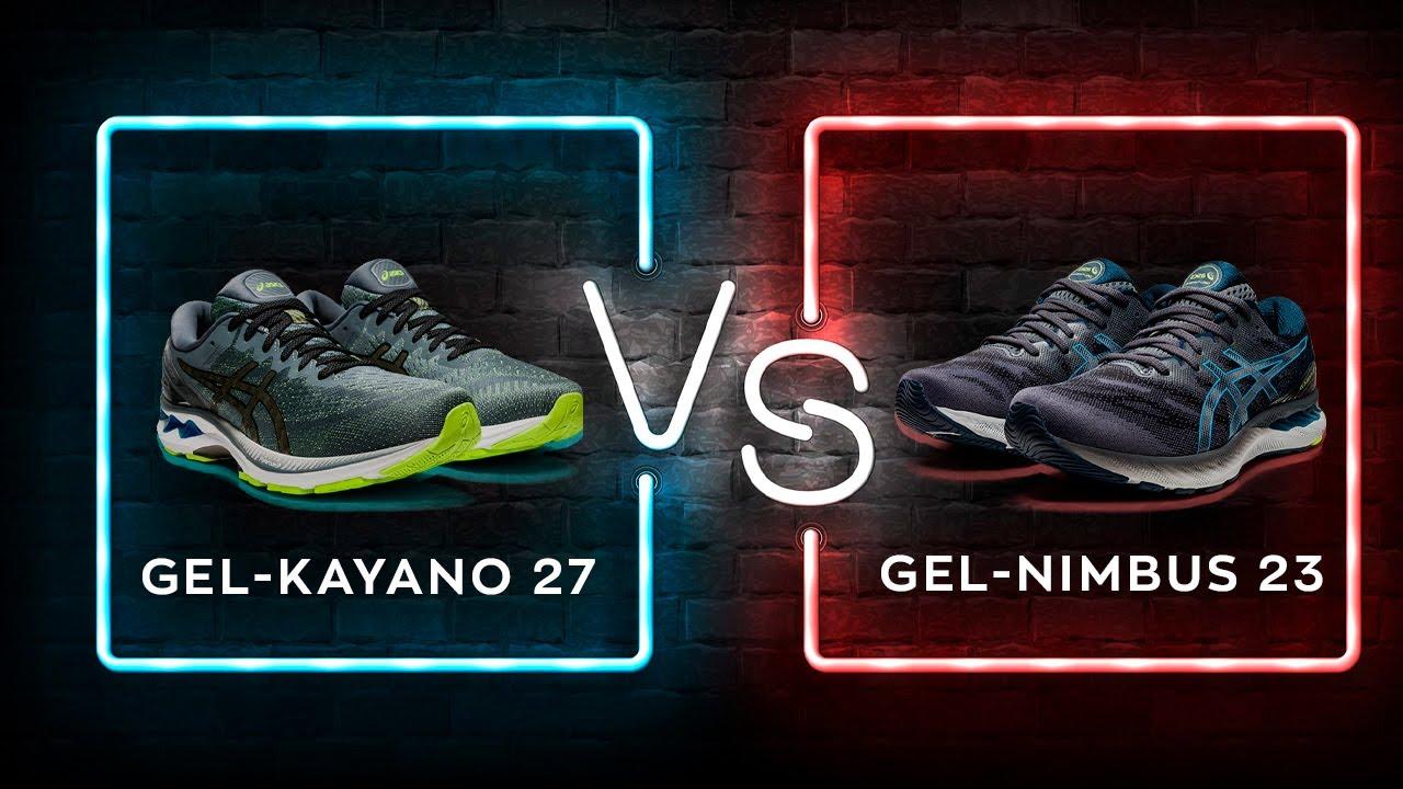 Сравнение кроссовок Asics: GEL-Kayano 27 vs GEL-Nimbus 23