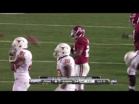 2010 BCS National Championship Game - #1 Alabama vs. #2 Texas Highlights