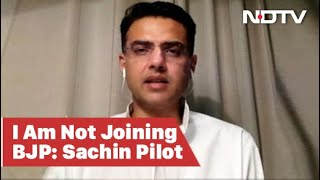 Sachin Pilot To NDTV: Not Joining BJP, Still With Congress