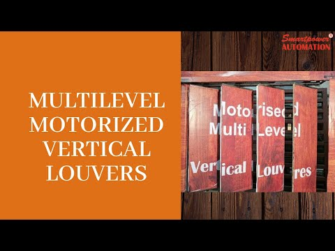 Motorized Vertical Louver