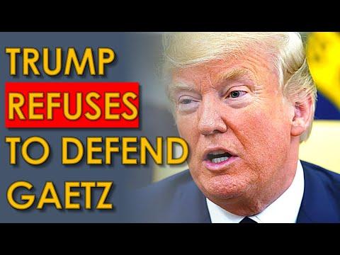 Trump DENIES Matt Gaetz Asked for Pardon, but won't Defend him