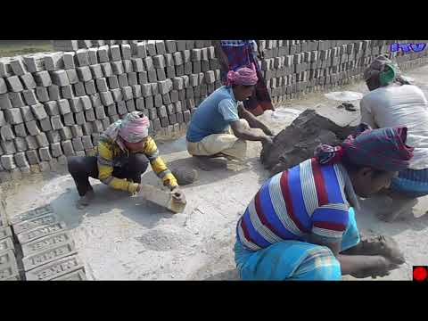 MAKING MANUAL CLAY BRICKS BY OUTMODED'PRIMITIVE SYSTEM.by youtube (itv) part (3)