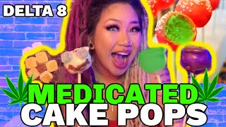 HOW TO MAKE MEDICATED CAKE POPS w/ Delta 8 | Kimmy Tan by Kimmy Tan