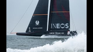 AC36: See INEOS Team UK's first foiling tack on video; no TFE LIVE today — heading to Seattle fo