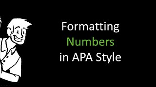 Formatting Numbers in APA Style