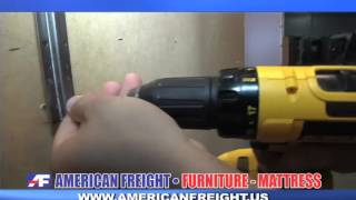 American Freight How To's: How to Attach a Mirror to a Dresser