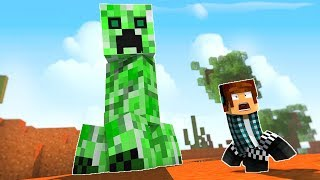 FUJA SE ENCONTRAR ESSE CREEPER NO MINECRAFT !! - [ Vida de Creeper #4 ] - Minecraft