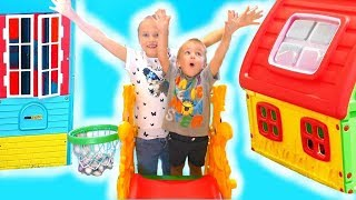 Niki Pretend Play with Playhouse Tent Toy and Slide for kids