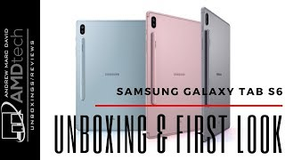 Samsung Galaxy Tab S6 Unboxing & First Look: With Keyboard Cover