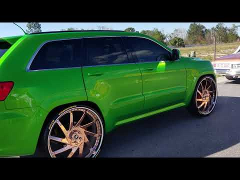 Candy Green Srt8 Jeep On Gold Forgiato 6s