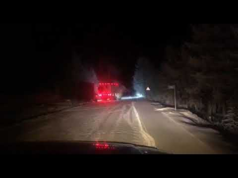 Молодой водитель едва не замерз насмерть на Ольчанском перевале