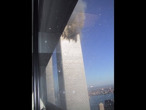 The Only Existing Footage Of 1st Plane Hitting WTC