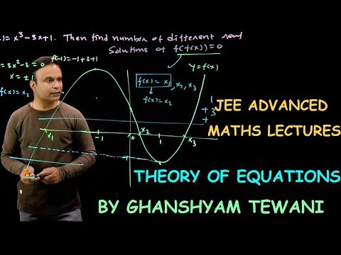 Theory of Equations | JEE Maths Videos | Ghanshyam Tewani | Cengage