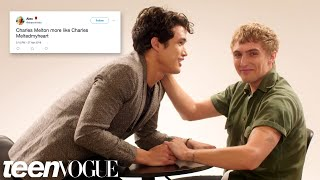Riverdale's Charles Melton and Hart Denton Compete in a Compliment Battle   Teen Vogue