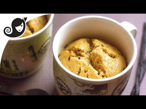 One Bowl Vanilla Chocolate Chip Steamed Mug Cake | Vegan/Vegetarian Recipe